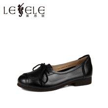 LESELE/莱思丽2016春季新款休闲女鞋牛皮镂空蝴蝶结单鞋LA0611