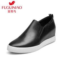 富贵鸟(FUGUINIAO)时尚乐福鞋 女厚底单鞋  内增高 松糕女鞋  M69F106C