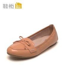 Pinkii/苹绮 shoebox鞋柜2016春秋新款甜美少女蝴蝶结单鞋平底低跟浅口女鞋
