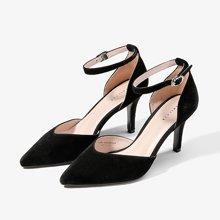 色非2017春季新款单鞋女尖头高跟鞋细跟真皮性感韩版百搭女鞋
