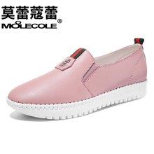 莫蕾蔻蕾2017新款学生运动鞋休闲百搭一脚蹬单鞋  70139