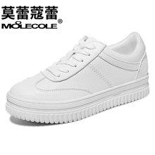 2017秋季新款小白鞋女系带韩版百搭单鞋运动鞋休闲鞋子女  70081