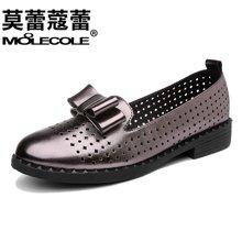 莫蕾蔻蕾2017新款舒适休闲女鞋镂空平跟软底鞋  70195