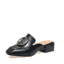 米基半拖鞋女夏无后跟懒人鞋包头粗方跟时尚穆勒鞋中跟凉皮鞋PX-125