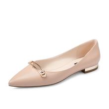 honeyGIRL22017秋季新款女鞋方扣尖头鞋百搭平跟鞋子浅口单鞋低跟HG17SP493XT252