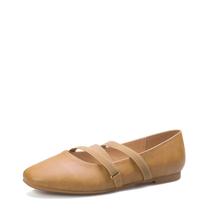 米基平底鞋女秋新款韩版奶奶鞋浅口平跟一脚蹬交叉松紧带单鞋NDX-29