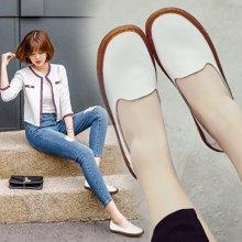 Simier2017秋季新款韩版真皮浅口单鞋平底鞋X201-1