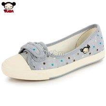 PUCCA/中国娃娃 浅口魔术贴懒人蹬 校园经典帆布鞋 女单鞋 PCH101