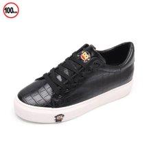 100KM猩猩猴 16新款 防水PU面 韩版潮流鳄鱼裂纹装饰女鞋 KCH225