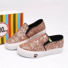 100KM&PF夏季新款时尚休闲亮片面韩版套脚鞋帆布女鞋 KCH224