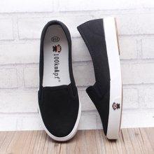 100KM懒人鞋 新款帆布鞋纯色软底低帮小白鞋女校园浅口鞋KCB108