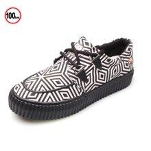 100KM&PF新品特色民族风系带轻便女款帆布鞋 KCH222
