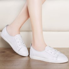 莫蕾蔻蕾帆布鞋女小白鞋百搭护士鞋休闲平跟学生鞋 6Q310