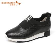 红蜻蜓女鞋 秋季运动休闲鞋女韩版青春学生内增高潮鞋6680