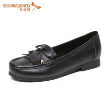 红蜻蜓女单鞋 2016秋季新款韩版舒适休闲平跟豆豆鞋女鞋 6676
