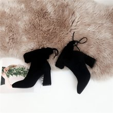 西瑞新款女鞋高跟高筒靴女长筒靴女靴子MN9903