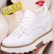 古奇天伦 春季新款内增高女单鞋高跟鞋韩版系带女鞋厚底百搭休闲鞋 TL/8579