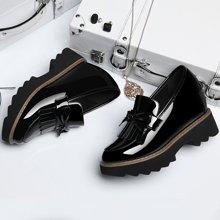 百年纪念 内增高女鞋子春季新款韩版厚底百搭小皮鞋学院中跟单鞋潮 bn/1342