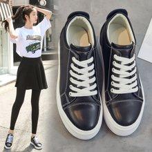 OKKO板鞋女鞋春季新款女士内增高休闲皮鞋女小白鞋韩版运动鞋鞋子女xA08-3