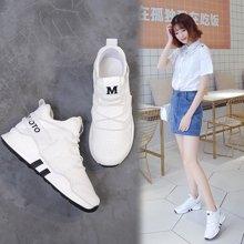 斯米尔新款休闲鞋女莱卡舒适透气女鞋运动休闲鞋子系带X7766