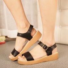 OKKO新款韩版凉鞋女夏平底平跟松糕厚底百搭简约学生女鞋X1519