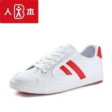 人本帆布鞋夏季新款学生韩版街拍小白鞋子百搭平底运动球鞋女