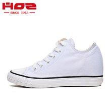 HOZ美国后街内增高女鞋帆布鞋女 学生鞋子女 小白鞋女显瘦学院风ZGAG32H89