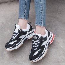 OKKO春季运动鞋女2018新款黑白熊猫鞋韩版原宿百搭学生休闲跑步鞋SL-A67