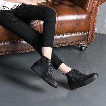 玛菲玛图秋冬新款休闲靴马丁靴女复古擦色文艺风短靴女系带单靴子362-3L