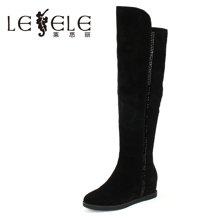 LESELE/莱思丽冬款高跟时尚女靴 简约休闲内增高过膝女长靴CA61-LD6001
