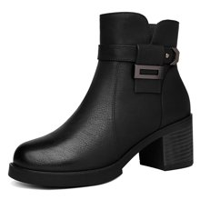 莫蕾蔻蕾2018新款女靴马丁靴女欧美女短靴皮靴女鞋 73296