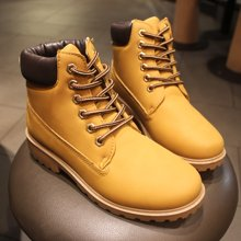 OKKO情侣靴马丁靴男短靴英伦高帮男靴子休闲鞋复古雪地靴保暖X799