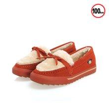 PUCCA/中国娃娃 新款加绒保暖套脚防寒棉靴防滑平底靴