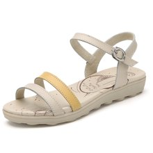 极有家凉鞋女夏季新款软底舒适鞋平底平跟甜美学生鞋沙滩鞋1603024