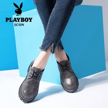 PLAYBOY/花花公子女士2017新款街头女鞋时尚休闲鞋系带鞋百搭 H1101