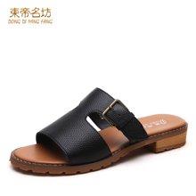2017夏季新款套脚凉拖时尚女平底凉鞋平跟女凉拖一字型沙滩女鞋 68A09Y3