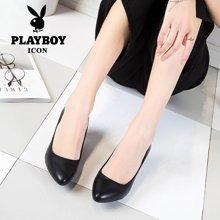 【下单立减10元】花花公子女鞋女士工作鞋新款职业女鞋办公室女鞋H2011