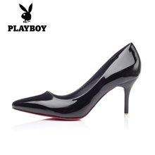 花花公子女鞋高跟鞋春季优雅婚鞋女休闲鞋时尚女单鞋H2012