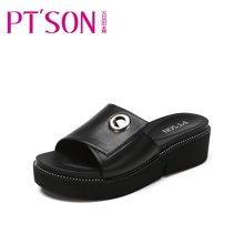 百田森 PYQ17367 新款厚底拖鞋女夏季时尚休闲外穿防滑软底凉鞋