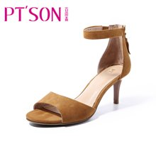 百田森 PYQD8339新款夏季高跟凉鞋女细跟韩版百搭露趾性感女鞋子