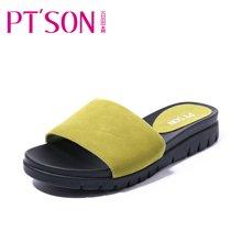 百田森 PYQD8306新款一字拖女韩版平底外穿凉拖鞋女夏季时尚外穿