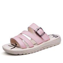 OKKO新款凉鞋女一字扣带孕妇平底拖鞋夏季透气办公室上班夏天脱鞋AG256