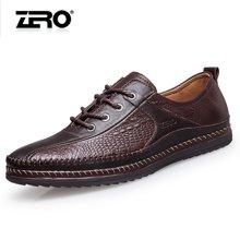 零度尚品 男鞋 商务休闲鞋 时尚休闲皮鞋 柔软驾车鞋手工男士休闲皮鞋 单鞋 F9946
