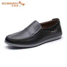 红蜻蜓男鞋 男士商务休闲鞋透气男单鞋皮鞋4165