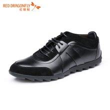 红蜻蜓男鞋 时尚拼接男士休闲鞋潮鞋皮鞋子5020