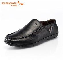 红蜻蜓男鞋 男士英伦商务休闲鞋皮鞋透气男单鞋4482