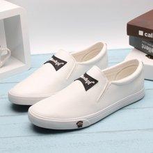 100KM&PF新款 纯色休闲低帮潮流简约时尚男款PU板鞋KCB601