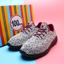 100KM猩猩猴 新款 飞织韩版潮流运动休闲低帮减震阿甘男鞋KWJ601