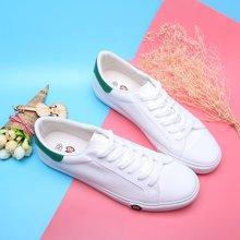 100KM猩猩猴 新款 纯色休闲低帮潮流简约时尚男款PU小白鞋KCB604