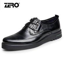零度尚品商务休闲男鞋2016春季新品时尚布洛克板鞋 男士休闲皮鞋F6107